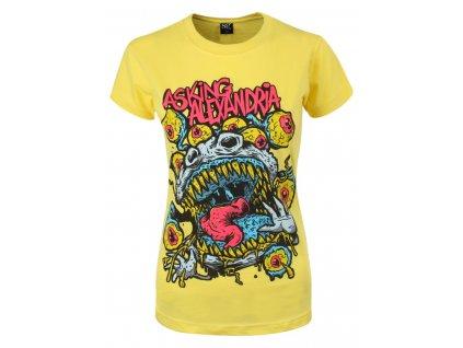 Dámske tričko ASKING ALEXANDRIA EYEBALLS (Veľkosť XL)