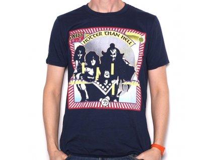 Pánske tričko Kiss HOTTER THAN HELL (Veľkosť XXL)