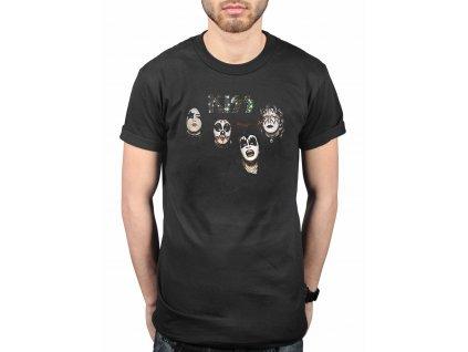 Pánske tričko Kiss 1974 (Veľkosť XXL)
