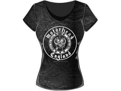 Dámske tričko Motörhead ENGLAND SEAL (Veľkosť XL)