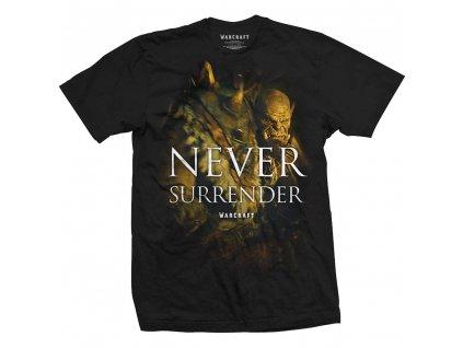 Pánske tričko WARCRAFT NEVER SURRENDER (Veľkosť XXL)