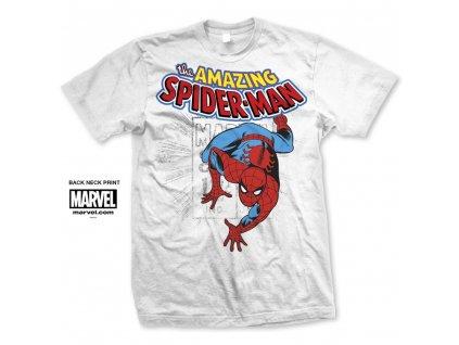 Pánske tričko SPIDERMAN BIG HEAD DISTRESSED (Veľkosť XXL)