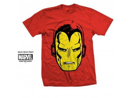 Pánske tričko IRON MAN BIG HEAD (Veľkosť XXL)