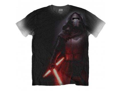 Pánske tričko STAR WARS KYLO SIDE PRINT (Veľkosť XXL)