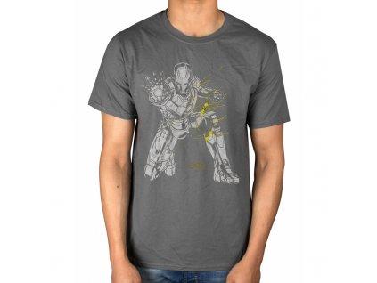 Pánske tričko IRON MAN SPLASH (Veľkosť XXL)