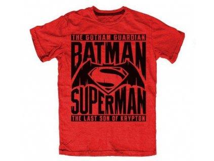 Pánske tričko BATMAN V SUPERMAN THE GOTHAM GUARDIAN (Veľkosť XL)