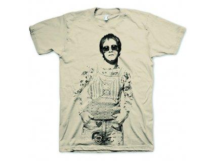 Pánske tričko Elton John GBYBR Vintage (Veľkosť XXL)