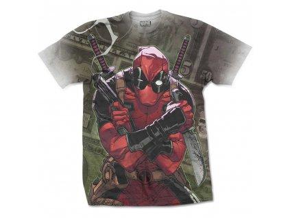 Pánske tričko DEADPOOL CASH (Veľkosť XXL)