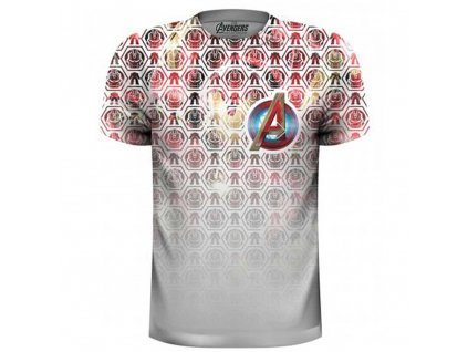 Pánske tričko AVENGERS ICONS PATTERN POCKET (Veľkosť XXL)