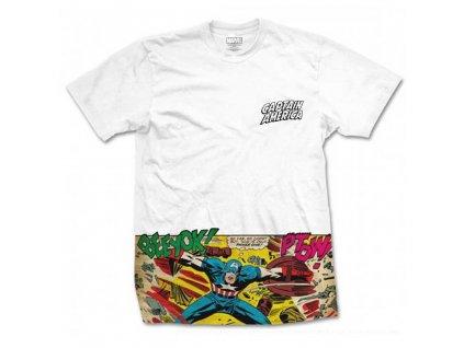Pánske tričko CAPTAIN AMERICA COMIC STRIP POCKET (Veľkosť XXL)