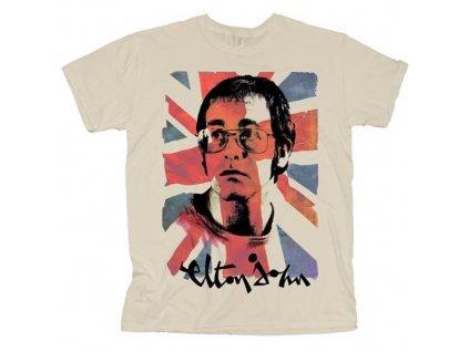 Pánske tričko Elton John Union Jack (Veľkosť XXL)