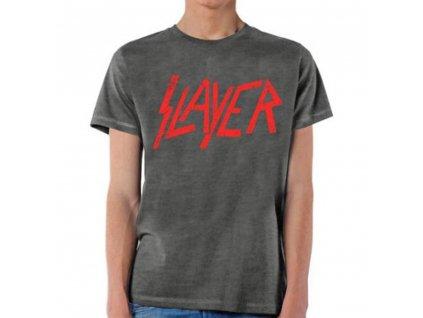 Pánske tričko Slayer DISTRESSED LOGO (Veľkosť XXL)