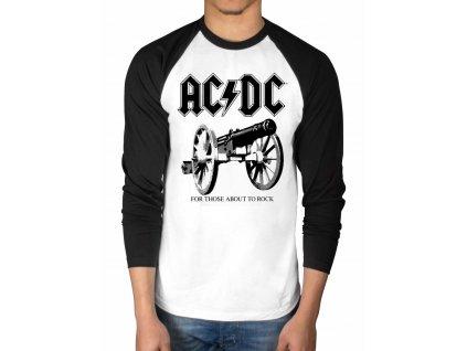 Pánske tričko s dlhým rúkavom AC/DC Rock Canon (Veľkosť XXL)