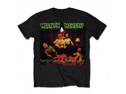Pánske tričko Marilyn Manson American Family (Veľkosť XXL)