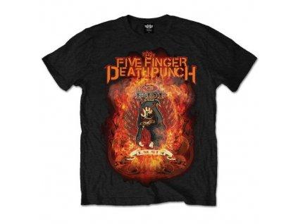 Pánske tričko Five Finger Death Punch Burn in Sin (Veľkosť XXL)