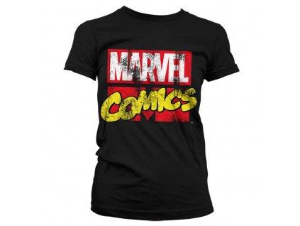 Dámske tričko Marvel Comics Retro Logo