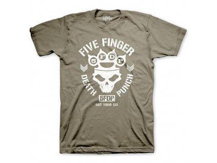 Pánske tričko Five Finger Death Punch Knucklehead (Veľkosť XXL)