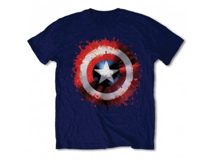 Pánske tričko CAPTAIN AMERICA SPLAT (Veľkosť XXL)