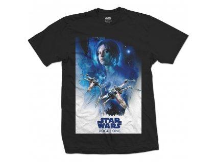 Pánske tričko STAR WARS ROGUE ONE JYN X-WING 01 (Veľkosť XL)