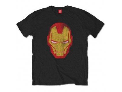 Pánske tričko IRON MAN DISTRESSED (Veľkosť XXL)
