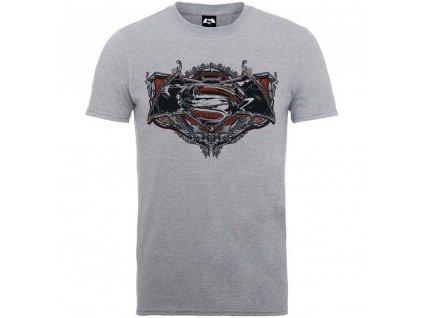 Pánske tričko BATMAN VS SUPERMAN GOTHIC LOGO (Veľkosť XXL)