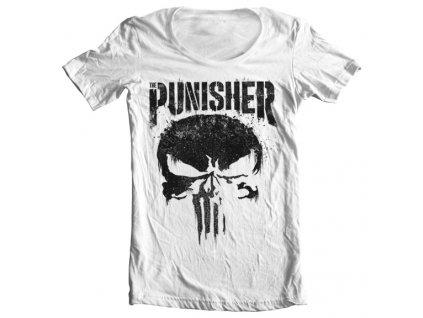 Pánske tričko The Punisher Big Skull Wide Neck