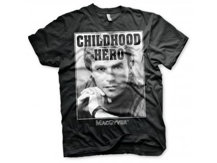Pánske tričko Macgyver Childhood Hero