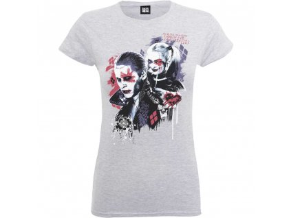 Dámske tričko SUICIDE SQUAD HARLEY'S (Veľkosť XL)
