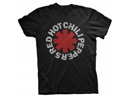 rtrhc005 rhcp black distressed asterisk t