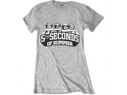 Dámske tričko 5 Seconds of Summer Spray Skull (Veľkosť XL)