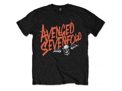 Pánske tričko Avenged Sevenfold Orange Splatter (Veľkosť XXL)