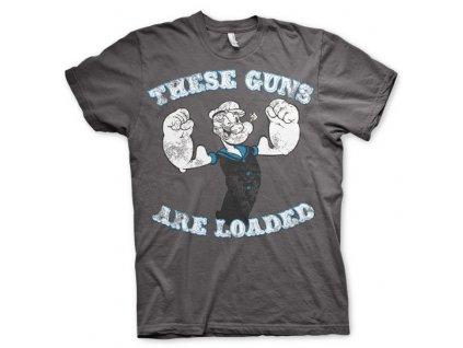 Pánske tričko Popeye - These Guns Are Loaded