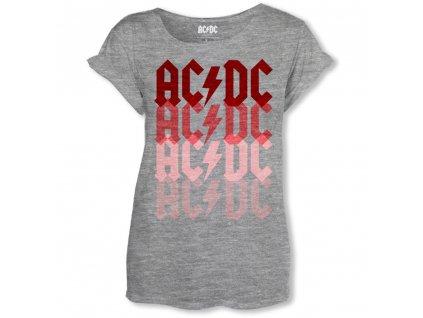 Dámske Tričko AC/DC LOGO FADE (Veľkosť XL)