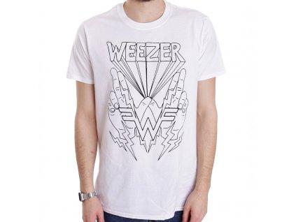 Pánske tričko WEEZER LIGHTNING HANDS (Veľkosť S)