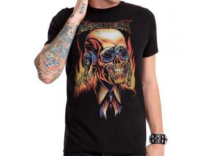 Pánske tričko MEGADETH FLAMING VIC (Veľkosť XXL)