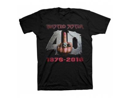 Pánske tričko TWISTED SISTER 40 AND FUCK IT (Veľkosť XXL)