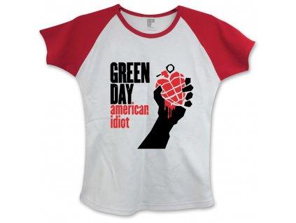 Dámske tričko Green Day American Idiot (Veľkosť S)