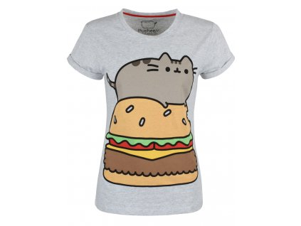 Dámske tričko PUSHEEN BURGER (Veľkosť XL)