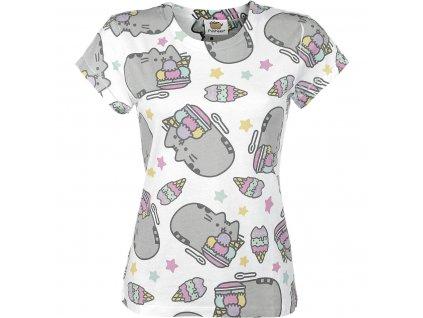 Dámske tričko PUSHEEN ICE CREAM (Veľkosť XL)