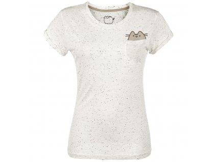 Dámske tričko POCKET PUSHEEN (Veľkosť XL)