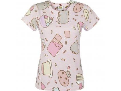 Dámske tričko PUSHEEN SWEET TREATS (Veľkosť XL)