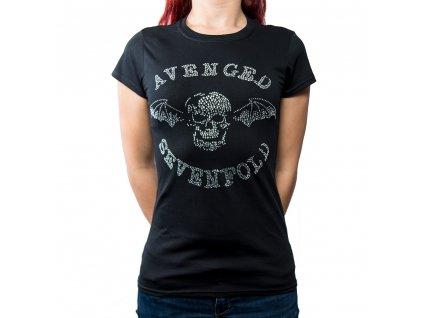 Dámske tričko Avenged Sevenfold Diamanté (Veľkosť XL)
