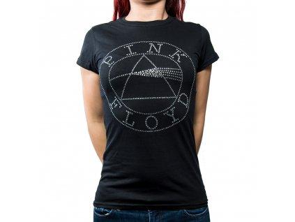 Dámske tričko Pink Floyd Diamanté (Veľkosť XL)