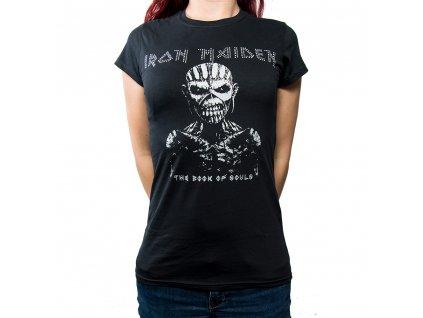 Dámske tričko Iron Maiden Diamanté (Veľkosť XL)