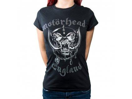 Dámske tričko Motörhead Diamanté (Veľkosť XL)