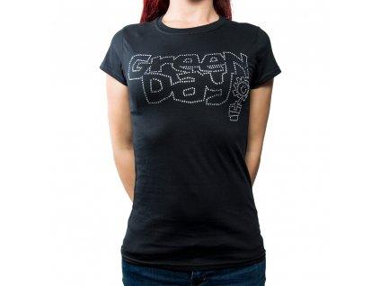 Dámske tričko Green Day Diamanté (Veľkosť XL)