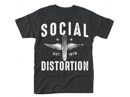 Pánske tričko SOCIAL DISTORTION WINGED WHEEL (Veľkosť XXL)