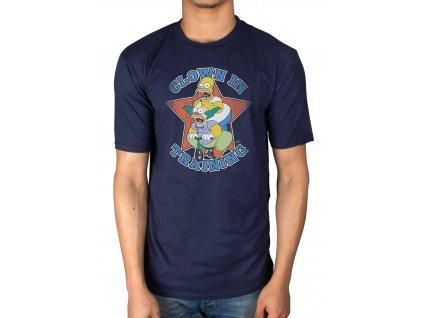 Pánske tričko The Simpsons CLOWN (Veľkosť XL)