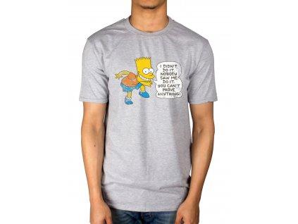 Pánske tričko The Simpsons DIDN'T DO IT (Veľkosť XXL)