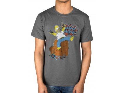Pánske tričko The Simpsons WOO HOO (Veľkosť XXL)